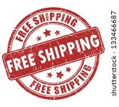 vector free shipping red stamp | Shutterstock .eps vector #133466687