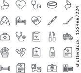 thin line icon set   heart...   Shutterstock .eps vector #1334667224