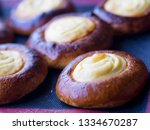 open buns with cottage cheese ... | Shutterstock . vector #1334670287