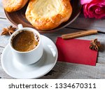 open buns with cottage cheese ... | Shutterstock . vector #1334670311