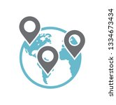 globe related icon on... | Shutterstock .eps vector #1334673434