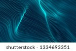 wave of particles. abstract... | Shutterstock . vector #1334693351