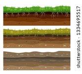 soil ground layers. seamless... | Shutterstock .eps vector #1334695517