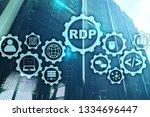 RDP Remote Desktop Protocol. Terminal Services. Server background