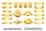 golden ribbons. shiny old... | Shutterstock .eps vector #1334696531
