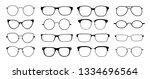 glasses silhouette. sun glasses ...   Shutterstock .eps vector #1334696564