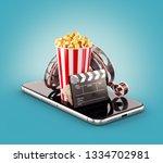 smartphone application for...   Shutterstock . vector #1334702981