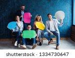 let's start a conversation. we... | Shutterstock . vector #1334730647