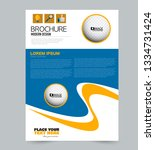 flyer template. design for a... | Shutterstock .eps vector #1334731424