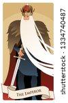 major arcana tarot cards. the... | Shutterstock .eps vector #1334740487