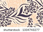 mix animal skin prints pattern... | Shutterstock .eps vector #1334743277
