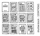 Different layout design | Shutterstock vector #133474361