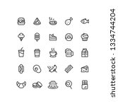 food   drink outline icons | Shutterstock .eps vector #1334744204