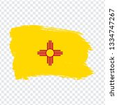 flag of new mexico from brush...