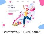 graphic bonus management.... | Shutterstock . vector #1334765864