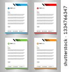 letterhead template with color... | Shutterstock .eps vector #1334766347