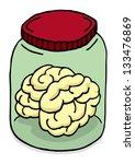 brain in a jar | Shutterstock .eps vector #133476869