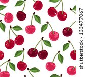 seamless pattern with cherry.... | Shutterstock .eps vector #133477067