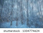forest snow blurred background  ...   Shutterstock . vector #1334774624