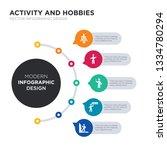 modern business infographic... | Shutterstock .eps vector #1334780294