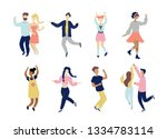 young dancing tiny stylish...   Shutterstock .eps vector #1334783114
