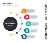 modern business infographic... | Shutterstock .eps vector #1334786084
