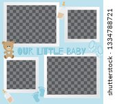 baby frames with boy girl and... | Shutterstock .eps vector #1334788721
