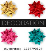set of realistic vector smooth... | Shutterstock .eps vector #1334790824