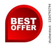 red vector banner best offer | Shutterstock .eps vector #1334793794