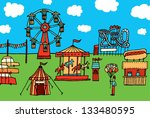 cartoon carnival   amusement... | Shutterstock .eps vector #133480595