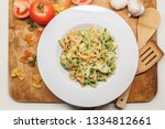 Tricolor Pasta Farfalle With...