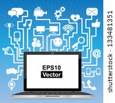 vector   social network or... | Shutterstock .eps vector #133481351