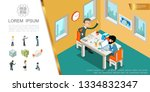 isometric business colorful... | Shutterstock .eps vector #1334832347