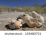 Desert Mountain Landscape With...