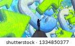 2d illustration composition....   Shutterstock . vector #1334850377