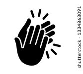hands clapping icon. vector... | Shutterstock .eps vector #1334863091