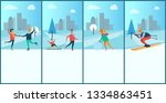 wintertime posters with text...   Shutterstock . vector #1334863451