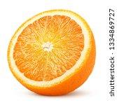 orange slice isolated on white... | Shutterstock . vector #1334869727