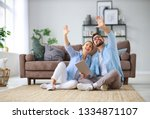 concept of moving  buying  home.... | Shutterstock . vector #1334871107