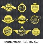 set of retro vintage labels.... | Shutterstock .eps vector #133487567