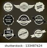set of retro vintage labels.... | Shutterstock .eps vector #133487624