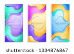 flat vector image  three... | Shutterstock .eps vector #1334876867