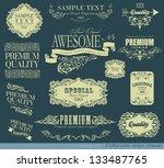 calligraphic design elements... | Shutterstock .eps vector #133487765