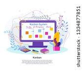 kanban project management... | Shutterstock .eps vector #1334877851