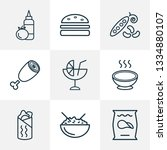 meal icons line style set with... | Shutterstock .eps vector #1334880107