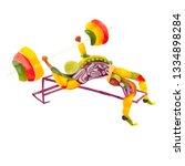 creative diet food healthy...   Shutterstock . vector #1334898284