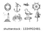 vector illustration of marine... | Shutterstock .eps vector #1334902481