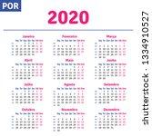portuguese  brazilian  calendar ...   Shutterstock .eps vector #1334910527