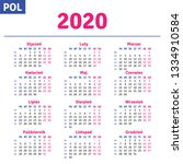 polish calendar 2020 ...   Shutterstock .eps vector #1334910584