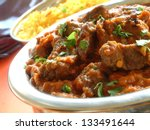 beef madras with pilau rice | Shutterstock . vector #133491644